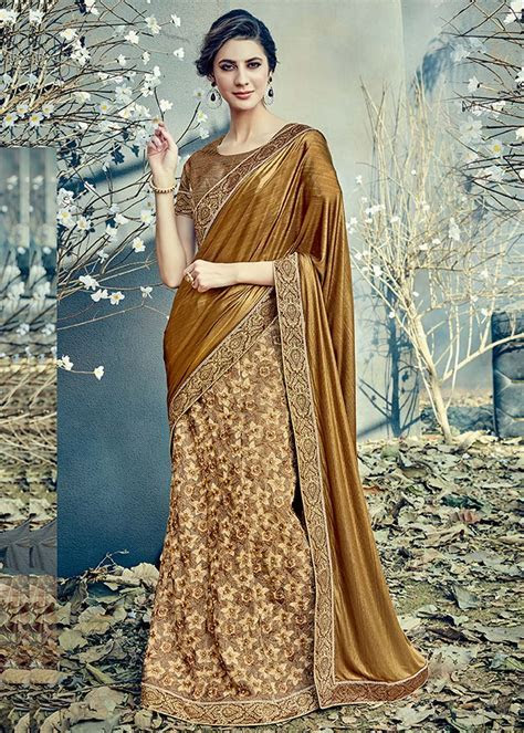 Indian Latest Bridal Lehenga Saree Designs 2018 2019