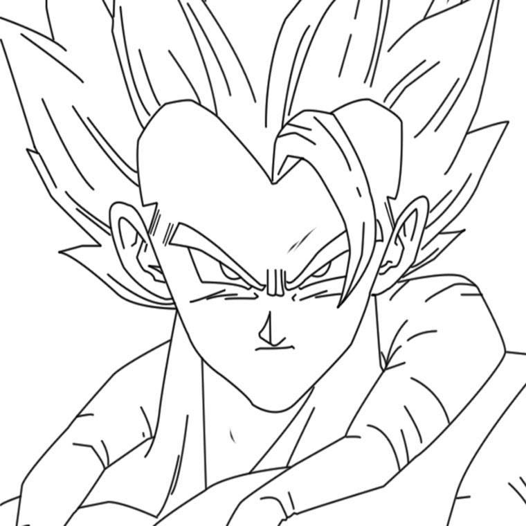 Coloriage Dragon Ball Z Gogéta Az Coloriage