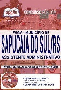 Apostila Concurso Município de Sapucaia do Sul 2018 | ASSISTENTE ADMINISTRATIVO