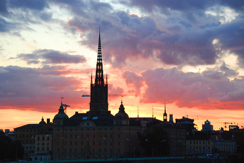 A Stockholm Silhouette: Sunset, Steeple, by Let Ideas Compete, on Flickr