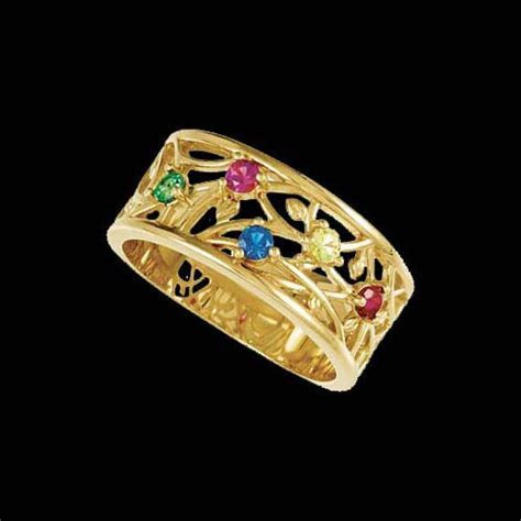 Rosella, Floral Band Mothers Ring