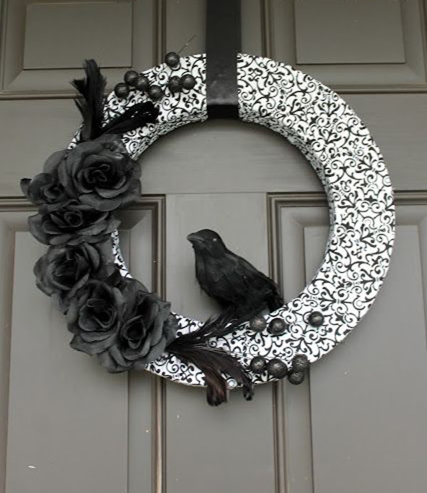 Black And White Halloween Wreaths House Design And Decor