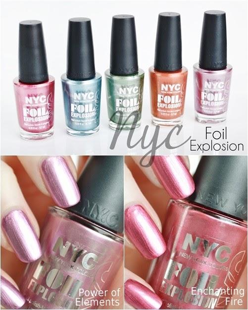 New Nyc Foil Explosion Nail Polishes Makeup Savvy Makeup And Beauty Blog