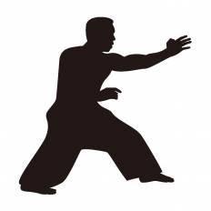 格闘家シルエット イラストの無料ダウンロードサイトシルエットac