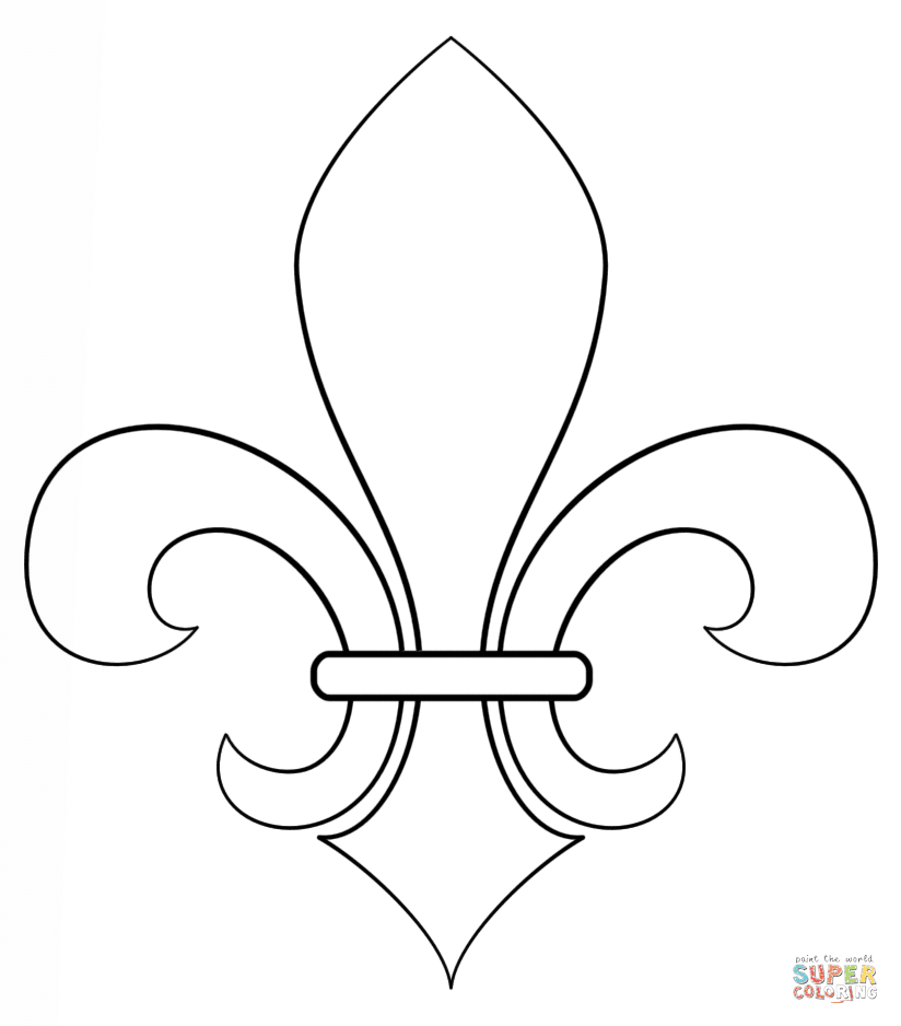 Fleur De Lis Coloring Page Free Printable Coloring Pages
