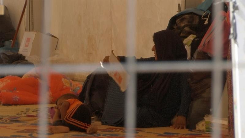 Foreign relatives of ISIL fighters are kept in the camp after they surrendered in August [Balint Szlanko/AP]