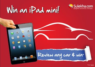 Sulekha car review contest and win an iPad Mini