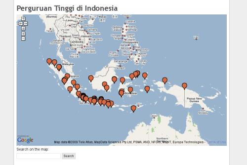 Tampilan di Google Map