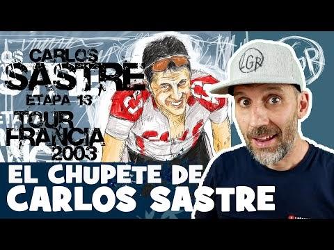 TDF2003 'EL CHUPETE DE CARLOS SASTRE en AX3 DOMAINES' Tour de Francia 2003. Etapa 13