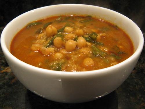 Moorish-style Chickpea & Spinach Stew