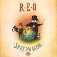 [REO Speedwagon The Earth, a Small Man, His Dog and a Chicken Album Cover]
