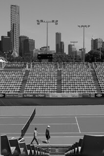 The tennis courts at Melbourne Park