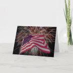 American Flag and Firework card