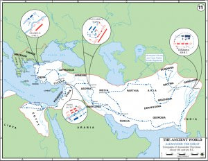 Map of Alexander the Great's Conquests (US Military Academy)