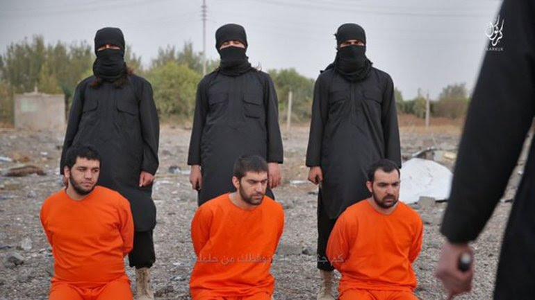Los cuatro kurdos esperan el momento de su ejecución en manos del ISIS