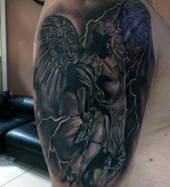 100 Guardian Angel Tattoos For Men Spiritual Ink Designs