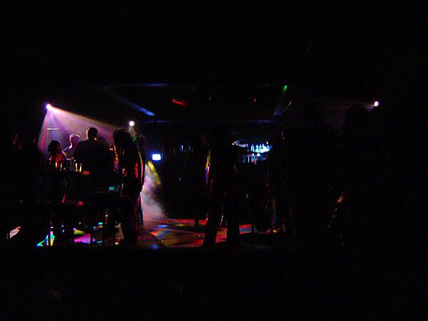 the lights on the dancefloor