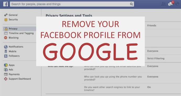 How to remove your Facebook profile from Google search ...