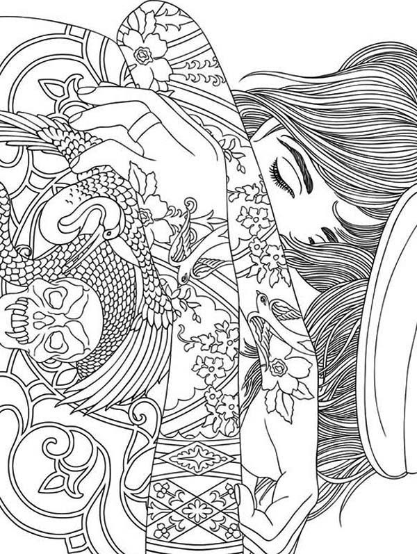 Printable Trippy Coloring Pages - Coloring Home