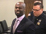 Bad impression: Arthur Morgan III winks at the cameras as he is lead off to jail after being found guilty of the murder of his daughter Tierra Morgan-Glover in Monmouth County Superior court in Freehold, N.J. on Thursday, April 3, 2014