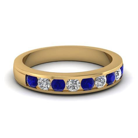 Cushion Cut Cathedral Diamond Sapphire Ring In Yellow Gold