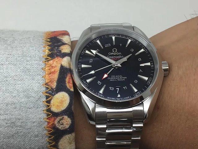 Omega Aqua Terra GMT Wrist Shot 1