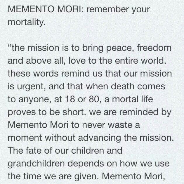 What Does Memento Mori Mean In English - MESJEME