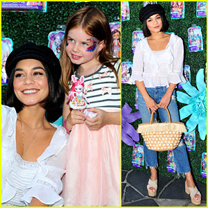 Vanessa Hudgens Snaps Selfies With Fans at Toy Launch