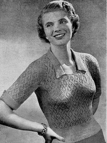 Lacy Jumper 1951 Vintage Sweater