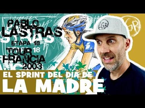 TDF2003 'PABLO LASTRAS Y EL SPRINT DEL DÍA DE LA MADRE' Tour de Francia 2003. Etapa 18 - Alfonso Blanco