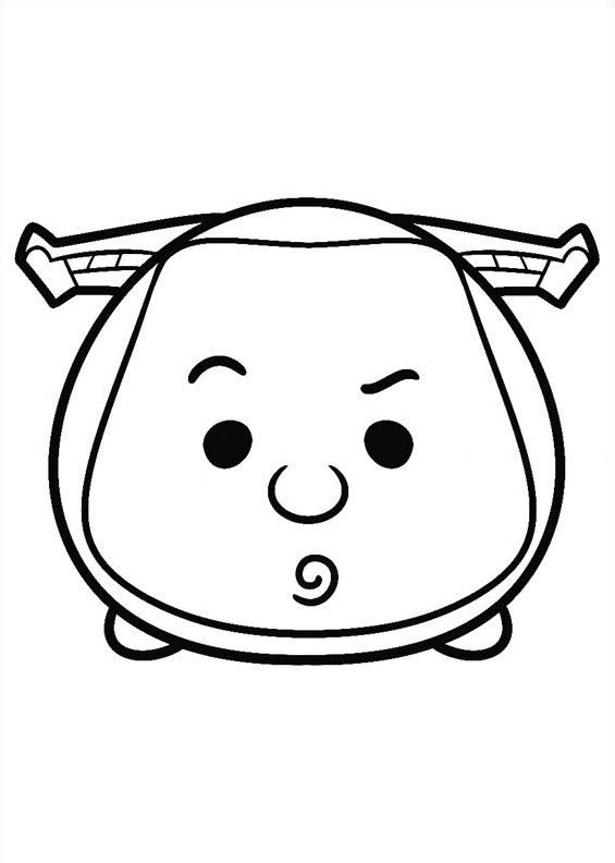 Free coloring pages of tsum tsum
