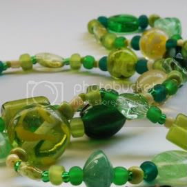 Celery and Greens Beaded Necklace