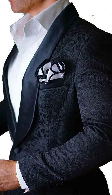 Black Patterns Men Suits Blazer 2017 Latest Design Mens
