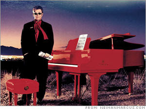 Elton John and the red piano