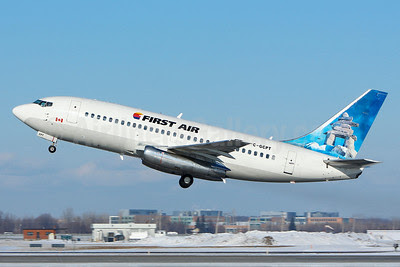 First Air Boeing 737-217 C-GCPT (msn 22258) (Inukshuk) YUL (Gilbert Hechema). Image: 911572.