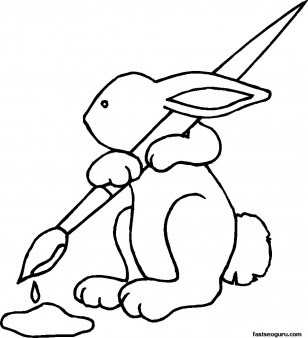 easter bunny coloring pages printable  easter wallpapers