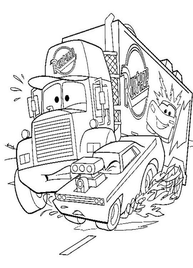 Car Movie Coloring Pages AZ Coloring Pages