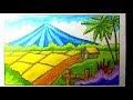 Gambar Mewarnai Pemandangan Dengan Crayon