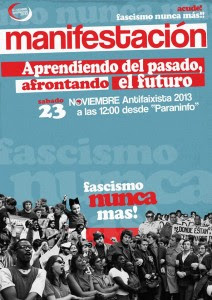 cartel MANI ANTIFASCISTA 2013