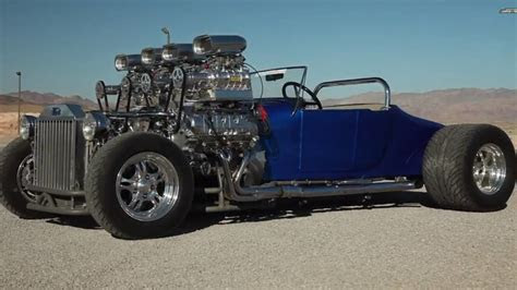 1927 Ford Model T Dual Engined Quad Supercharged T Bucket   R&,T DRIVE Videos