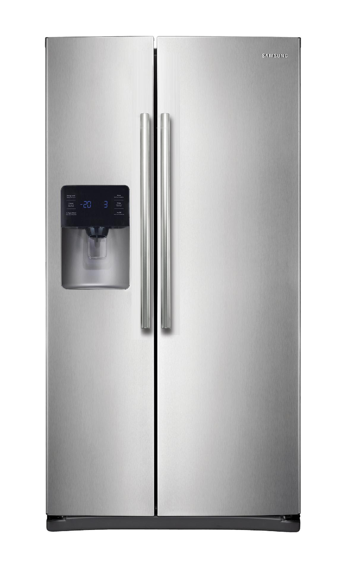 Samsung RS25H5111SR 24 5 cu ft Side by Side Refrigerator