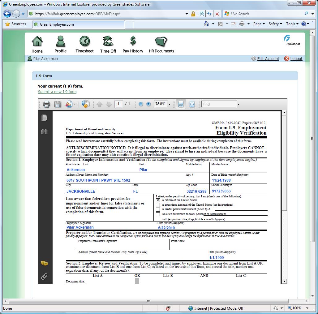 Greenshades EmployeeDesk for Dynamics GP