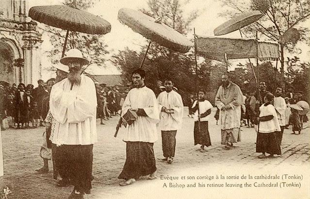 Tonkin - Evêque et sa Procession