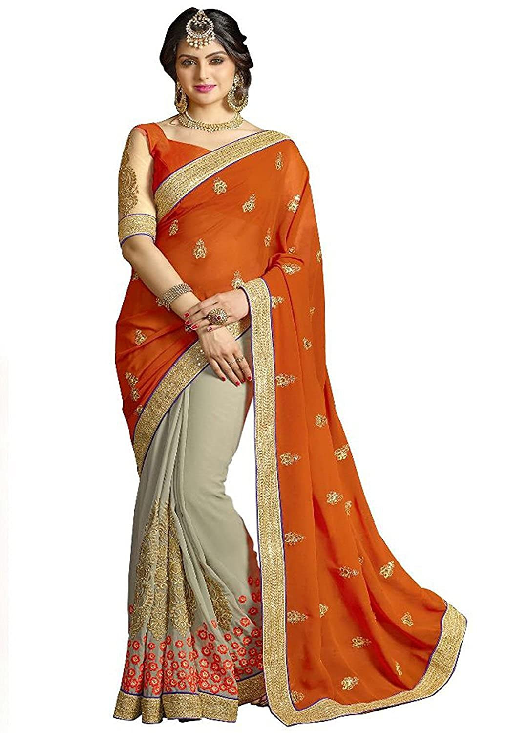 Deals on Sareeshop Faux Georgette Saree