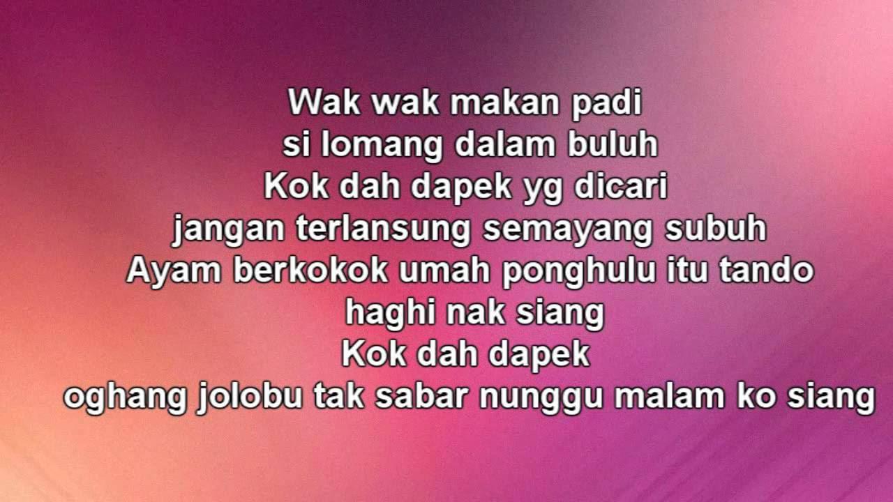 Lirik Lagu Gadis Jolobu