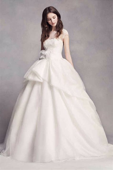 White by Vera Wang VW351315 Style Lace Illusion Wedding