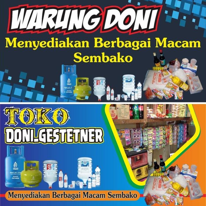 Desain Spanduk:  Desain Spanduk Warung Sembako