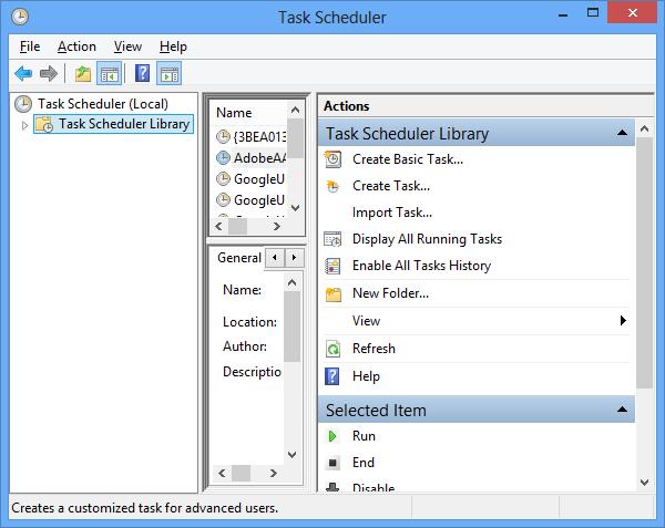 Windows 8 boot to desktop Task Scheduler