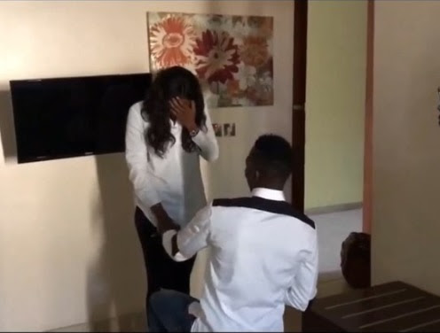 Super Eagles Star, Kenneth Omeruo Proposes to His Girlfriend, Her Reaction is Priceless! (Photos/Video)
