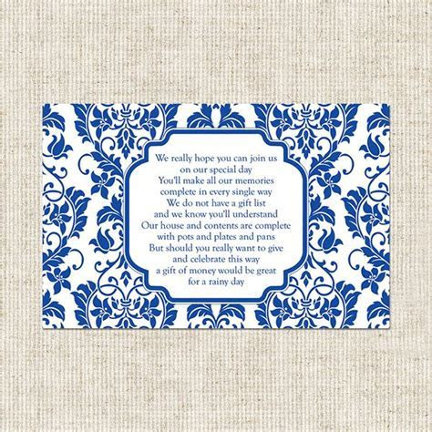 gift card poem for bridal shower   Delicate Swirl Pattern